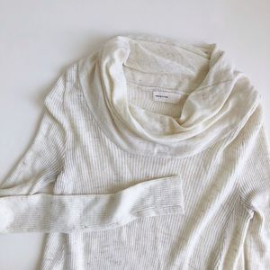 ANTHROPOLOGIE Asymmetric Hem Cowl Neck Sweater